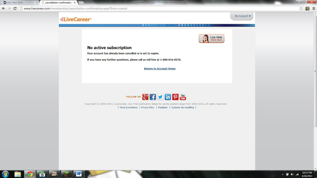 livecareer com login