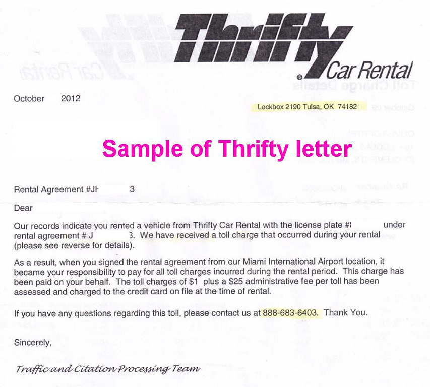 Thrifty Car Rental Complaint Review Miami