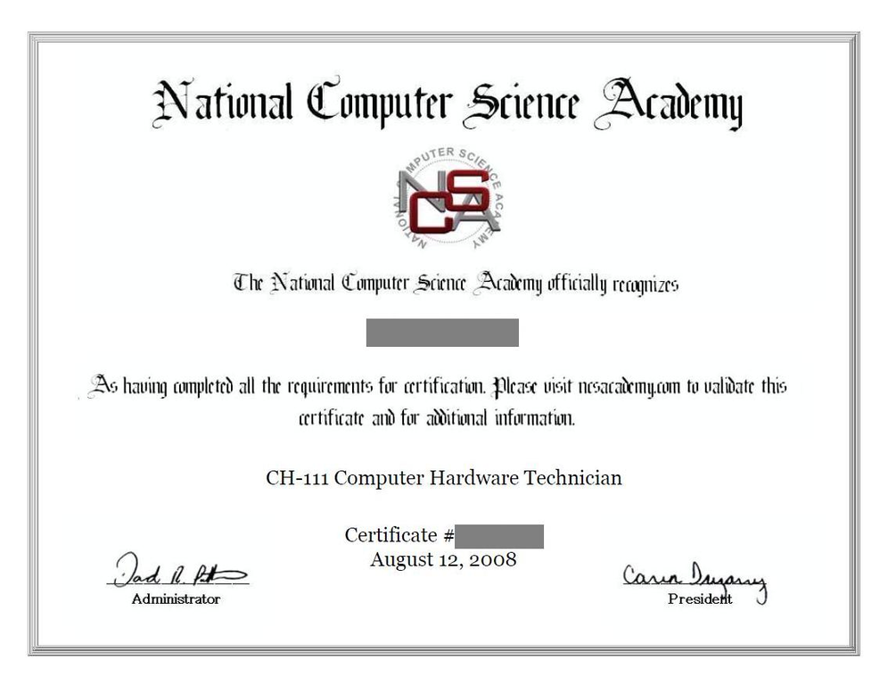 Computer Training Certifications