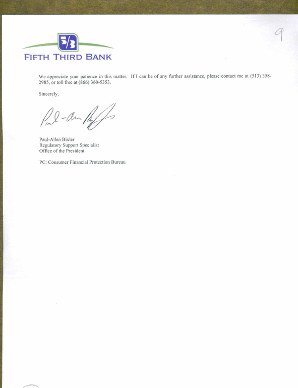 fifth third bank mortgage clause