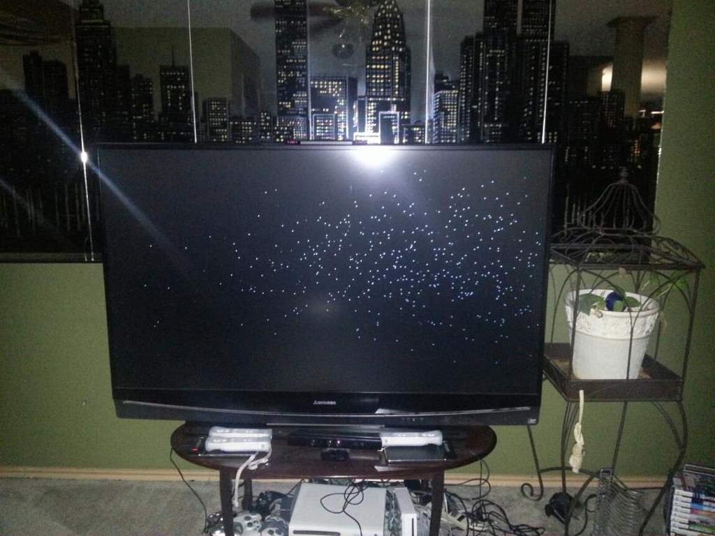 mitsubishi on dots samsung white chip black repair youtube dlp tv watch toshiba how replace to