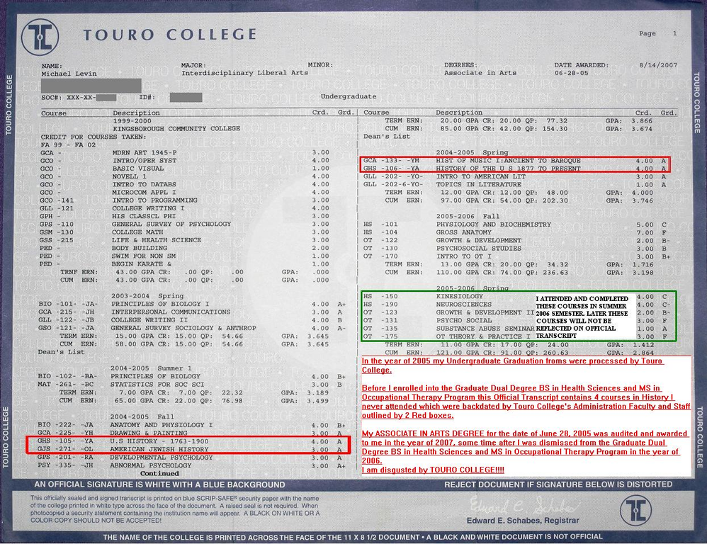 ripoff report touro college complaint review new york city new york 0author 0consumer 0employee owner ← is this