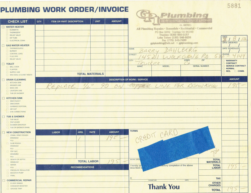 plumbing invoice security guard resumes lease agreement word template, Invoice templates