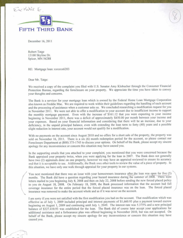 Ripoff Report Fifth Third Bank Mortgage Complaint