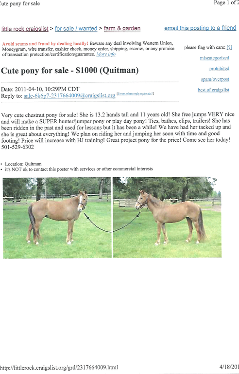 Ripoff Report | Hickory Hills Equestrian Center Complaint Review ...