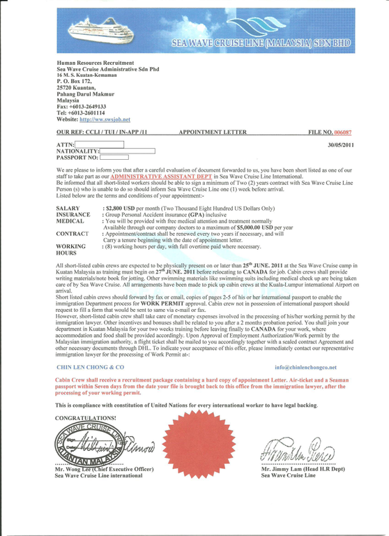 sample appointment letter sample confirmation letter for appointment letter samplebusiness