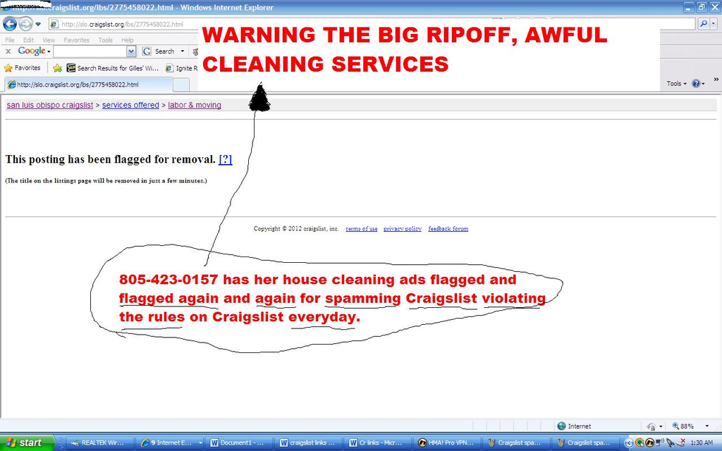 ripoff report perez family housecleaning house cleaner complaint report attachments