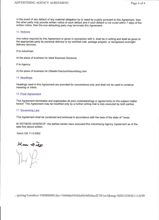 Ripoff Report – Business Service Agreement