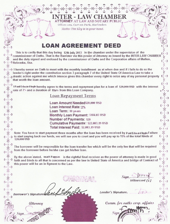 Example Resume Notary Public Loan best images about notary – Loan Agreement Doc