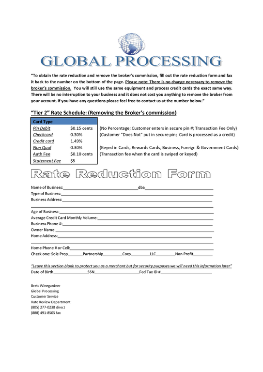 ripoff report global processing complaint review santa monica global processing brett winegardner scamming credit card processing false info and scare tactics santa monica ca
