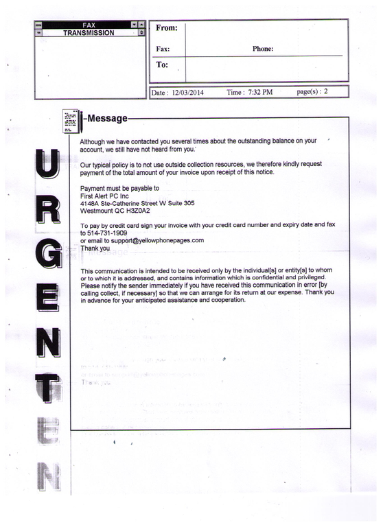 ripoff report first alert pc inc complaint review westmount quebec this