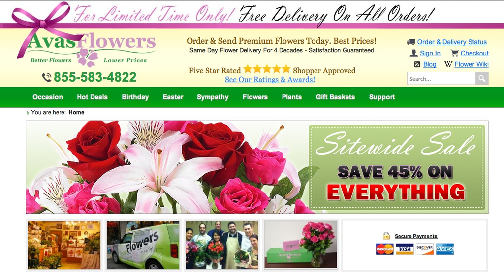1175 Avas Flowers Consumer Reviews and Complaints