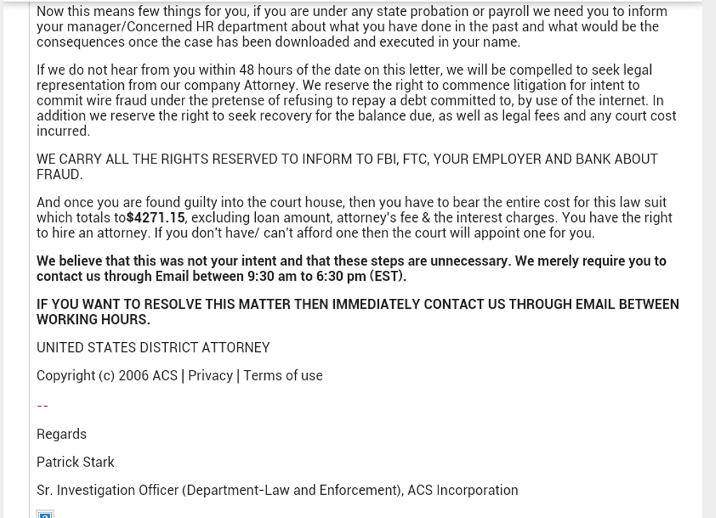 Jun 14, · Got same message but mine was from Advance Cash Services. You are fully within your legal rights to request information sent to your home address via registered mail with a .