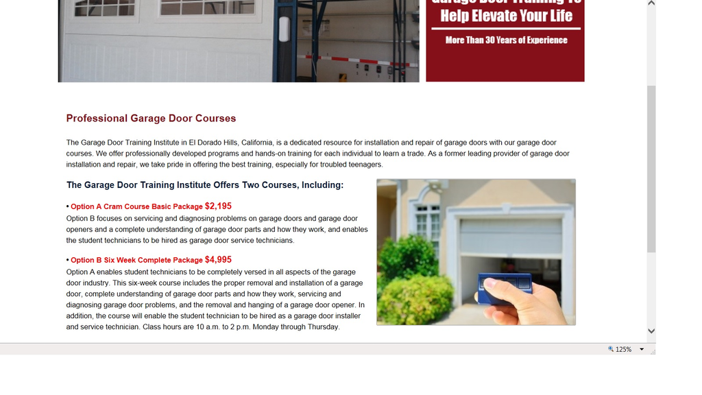 Ripoff Report Garage Door Training Institute Complaint Review El