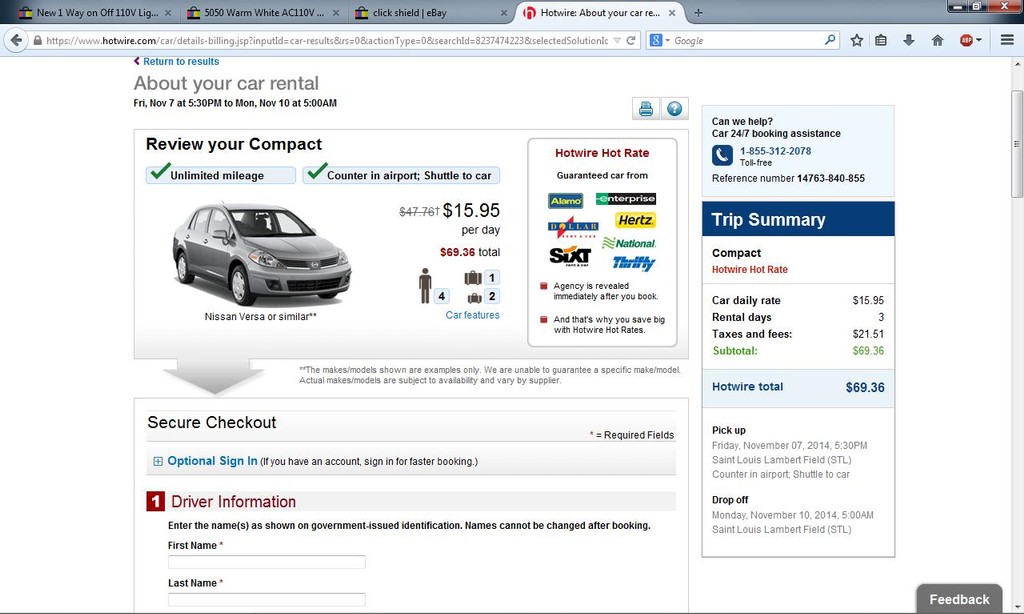 Hotwire Review - Nationwide - Com Changed