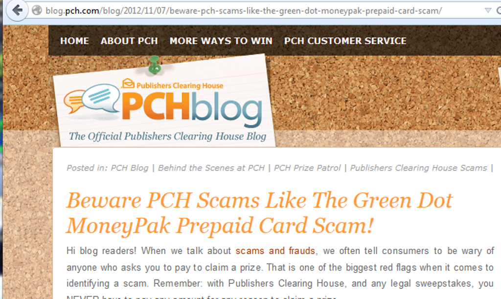 Pch Scams