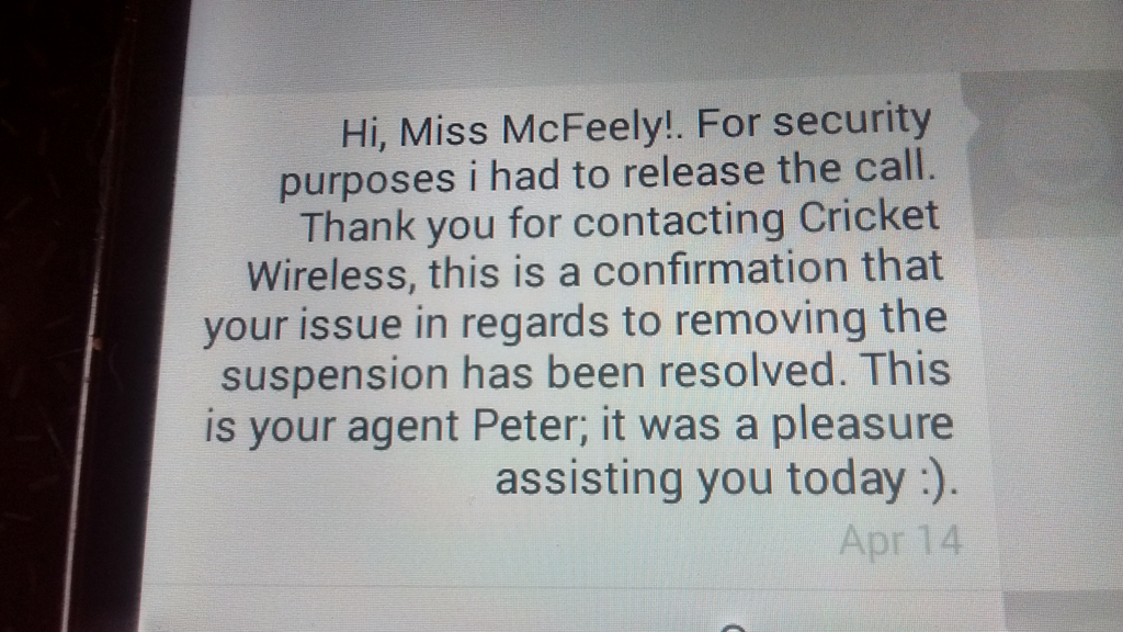 Cricket wireless customer service - 0author 1consumer 0employee Owner Is This