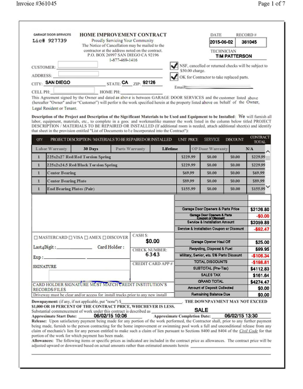 1631 #A22929 Is This Ripoff Report About You Ripoff Report A Business First Line Of pic Best Garage Doors Consumer Reports 39411268