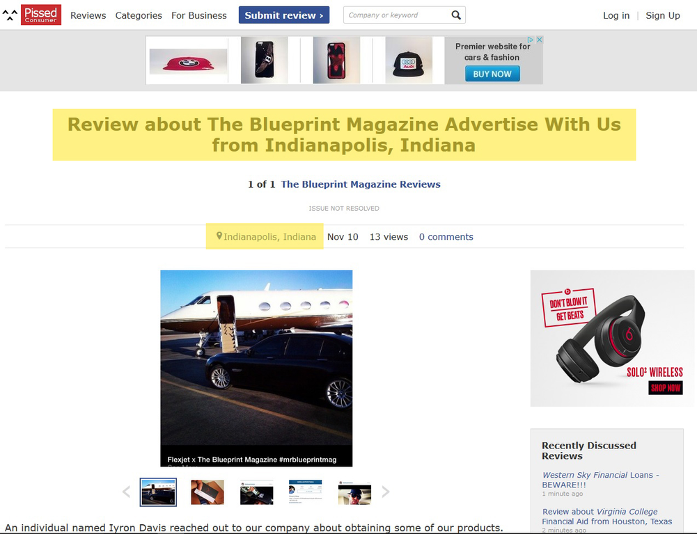 Ripoff report the blueprint style magazine complaint review nationwide respond malvernweather Choice Image