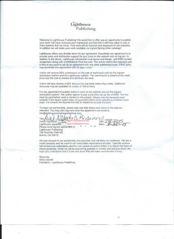 Ripoff Report Lighthouse Christian Publishing Complaint Review