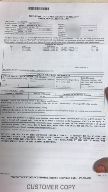 Ripoff Report | Conn's Complaint Review Nationwide
