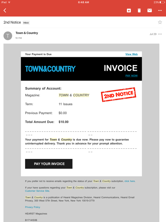 ripoff report | heart magazine town & country complaint review