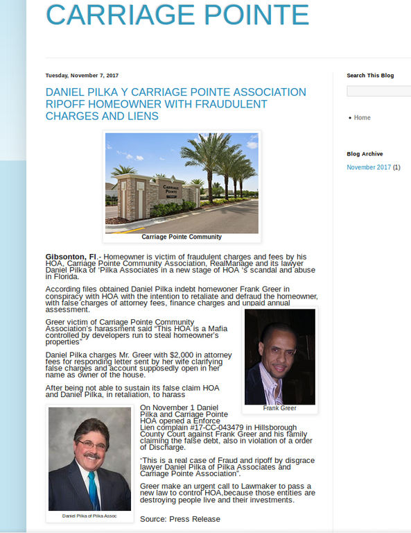 CARRIAGE POINTE HOME Review - Gibsonton, Florida - Ripoff Report