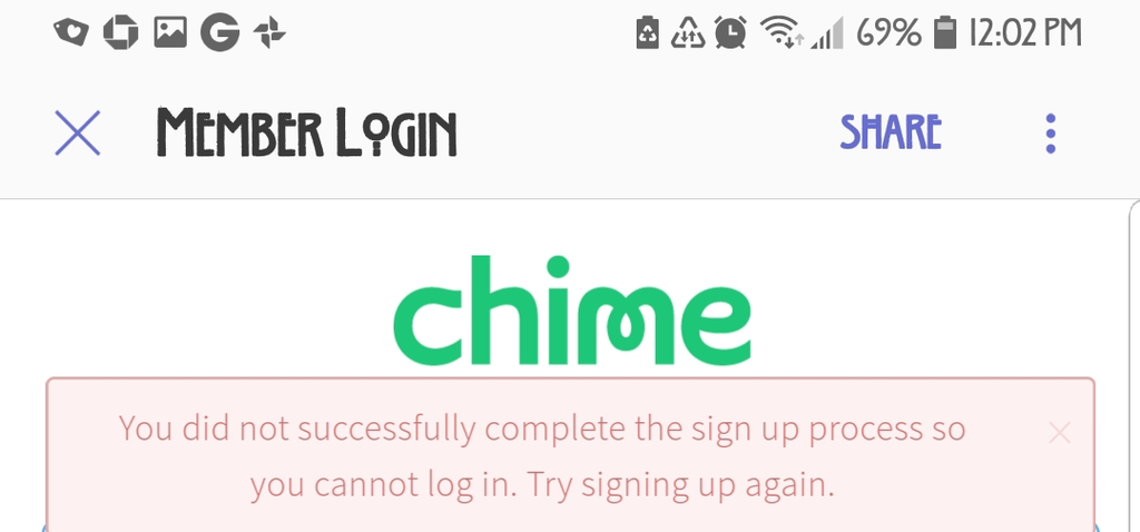 Chime bank Review - Internet - Chime online ing failed - Ripoff Report