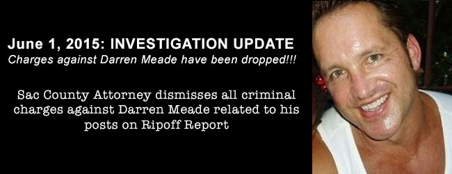 Charges against Darren Meade have been dropped!
