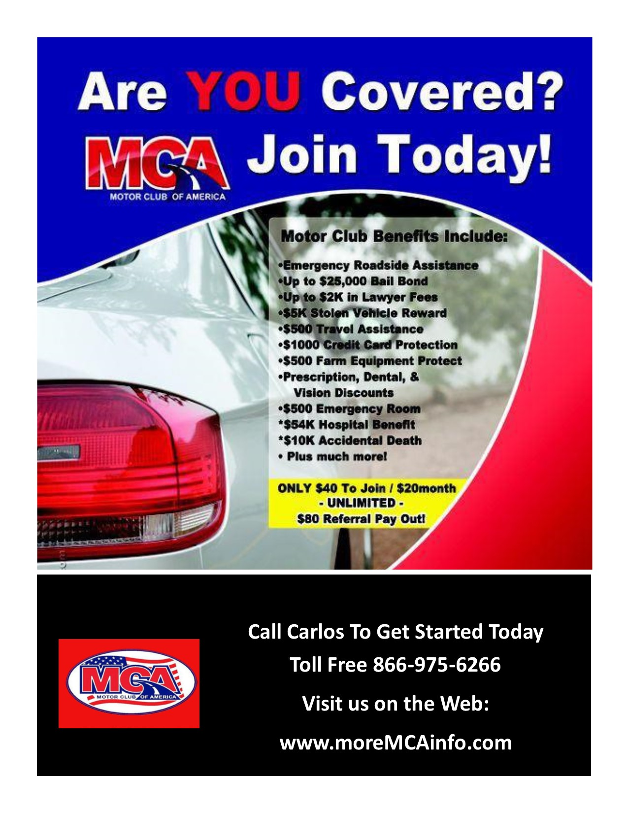 Ripoff report motor club of america mca search of for Allstate motor club roadside assistance number