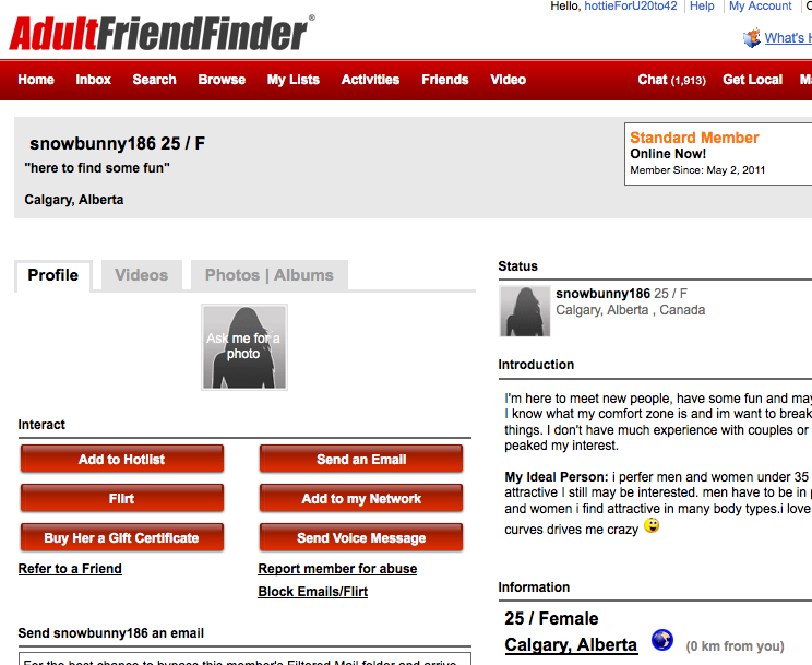 reports adult site friend finder passion